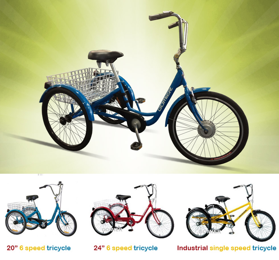 Electric tricycles made from Gomier Trikes